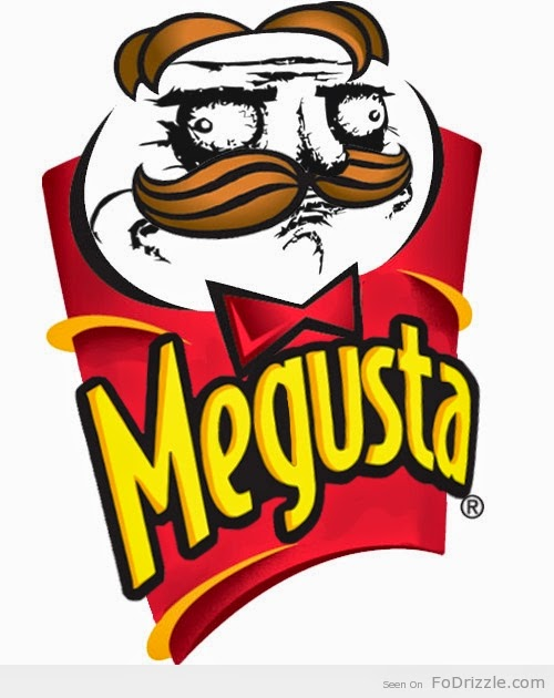 A melding of megusta and pringles man
