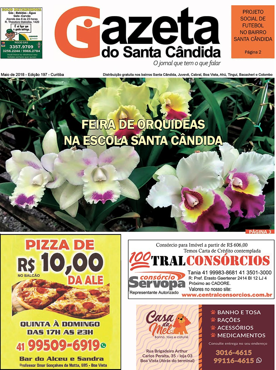GAZETA DO SANTA CÂNDIDA, MAIO 2018