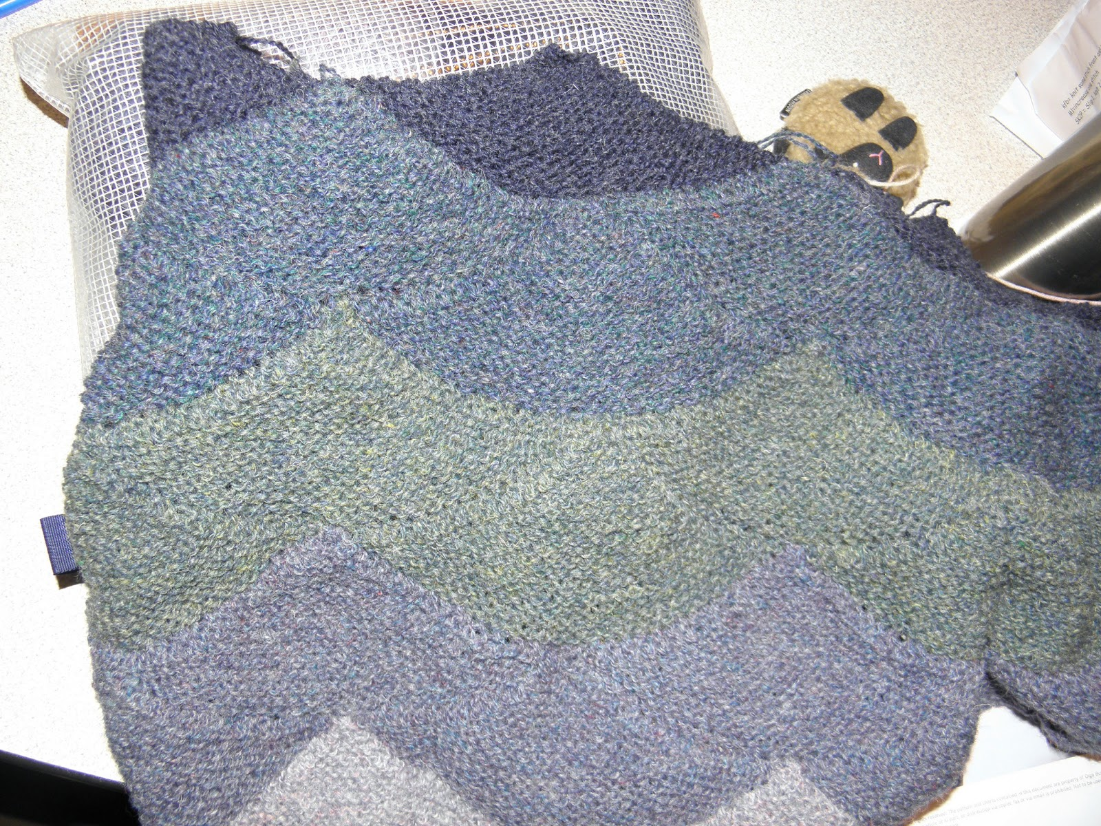 Modern Wave Pattern Knitting Festooning - Sewing Pattern for Wedding ...