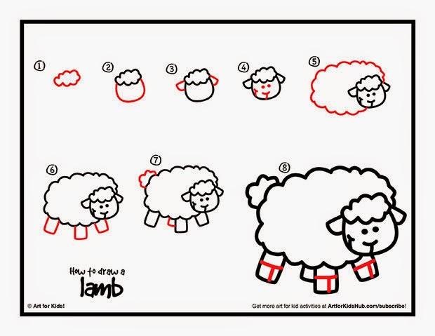 рисунок овцы карандашом шаг за шагом