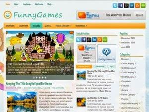 FunnyGames - Free Wordpress Theme