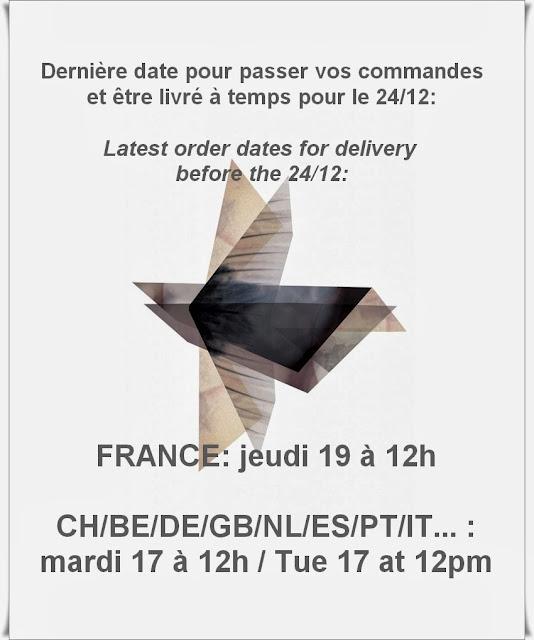 Date limite de commande / Latest order date
