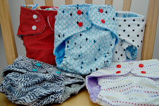 finished cloth diapers