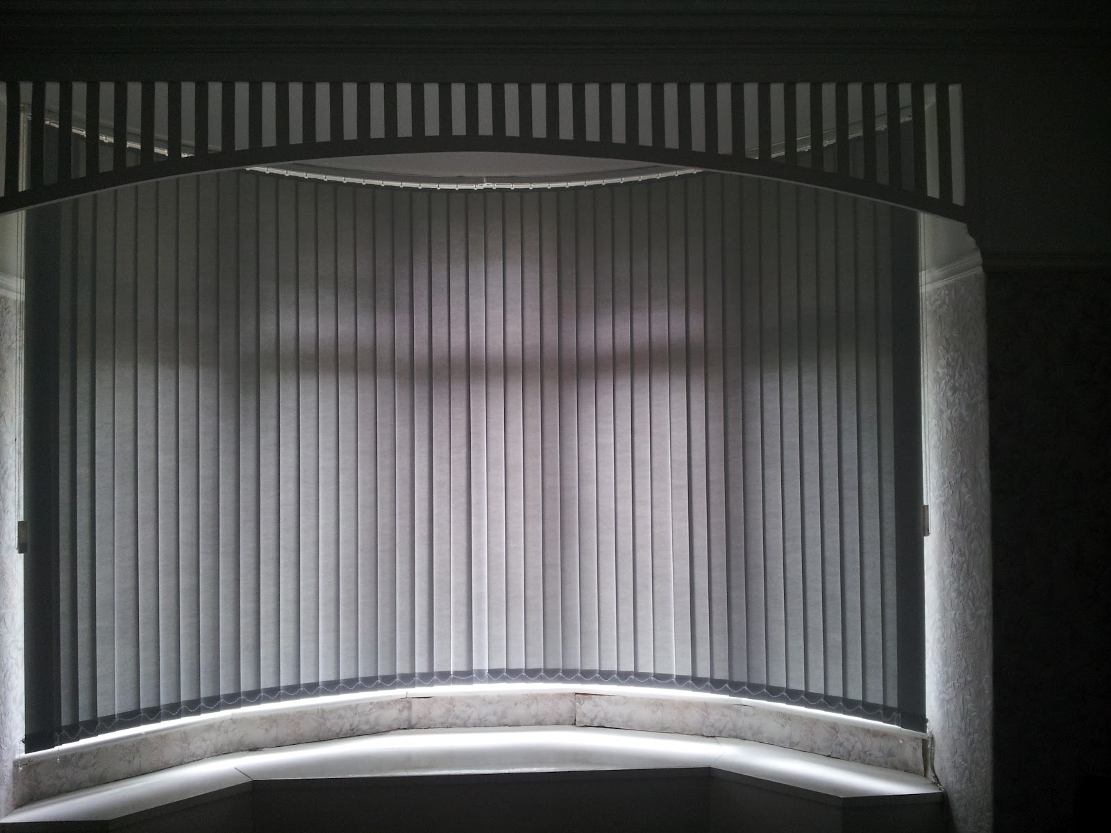 Blindology Blinds of Plymouth: Curved vertical window blinds Plymouth