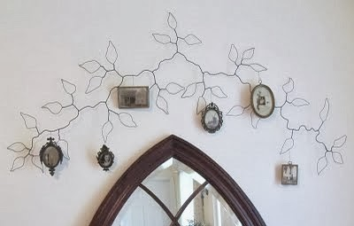 Wire wall vine