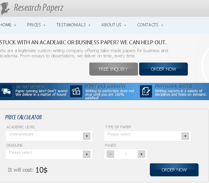 Custom writtien research papers