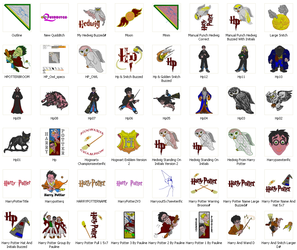 Harry Potter Embroidery Designs Download
