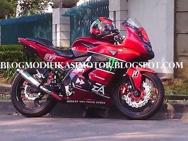 Modifikasi Vixion Model Ninja 250R