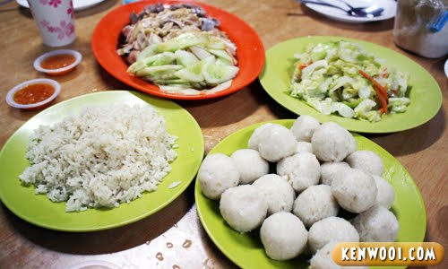 malacca chicken rice ball