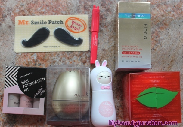 Memebox Tony Moly beauty box review, unboxing