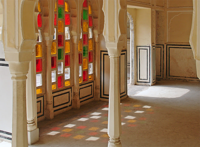 L'intérieur du palais des Vents à Jaipur