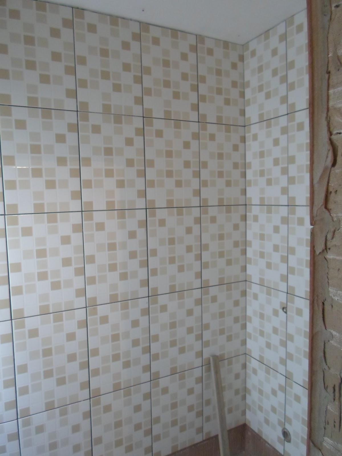 Amor em decoração: Colocação dos azulejos na cozinha e banheiro #5E4C41 1200x1600 Azulejo Para Banheiro Decorado