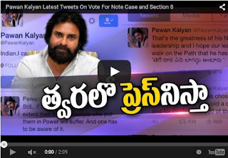Pawan Kalyan Latest Tweets On Section 8 And Cash For Vote Video
