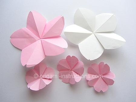 origamiinstructionscom easy origami cherry blossom