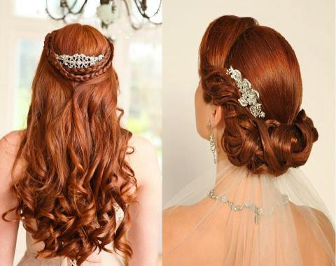 Hairstyle is key to wedding makeup a good locks design make the beauty ...