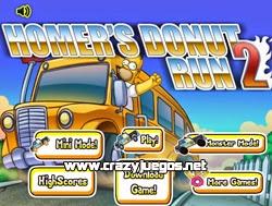 Jugar Homer Donut Run 2