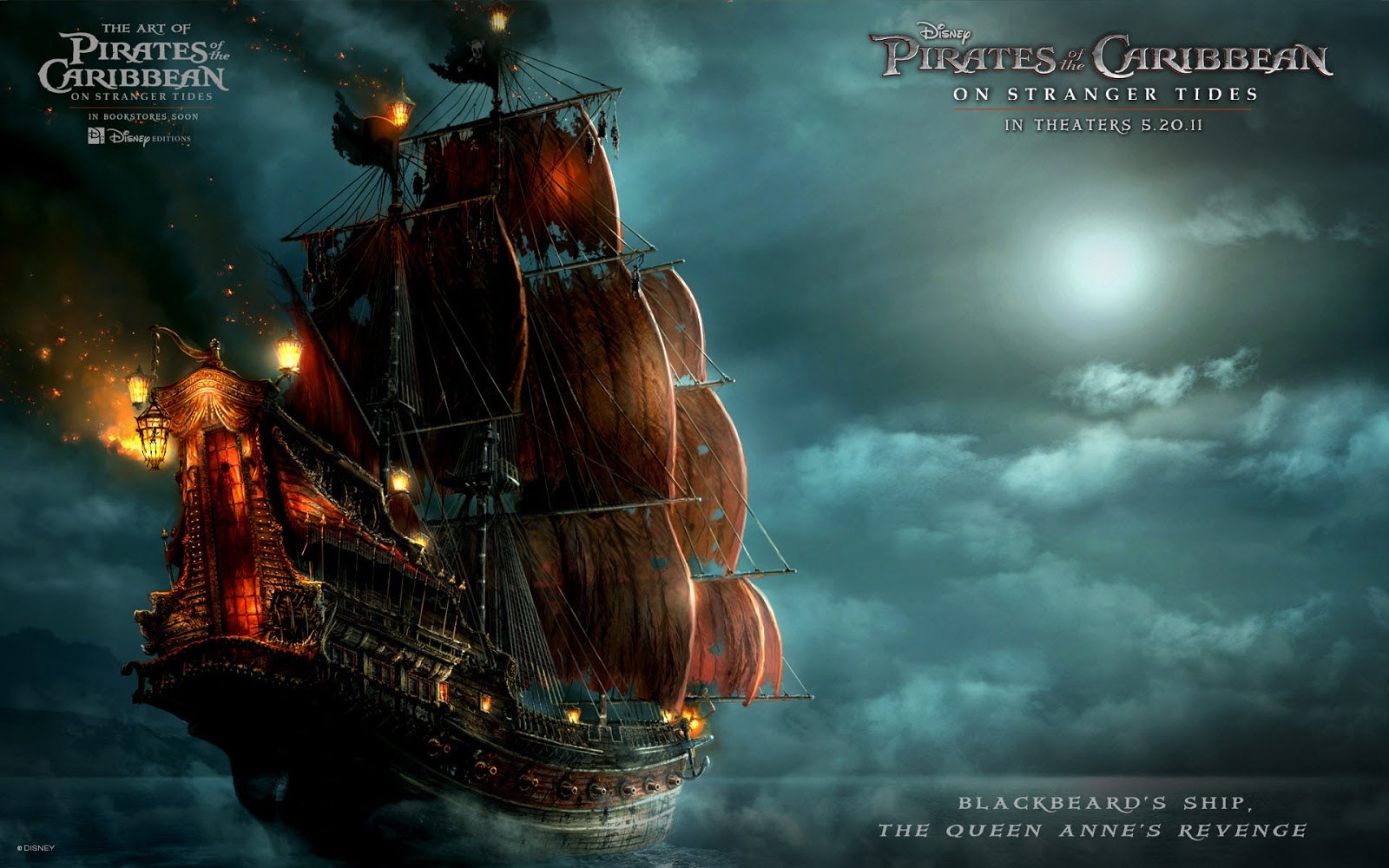 Blackbeards ship pirates of the caribbean 4 full hd desktop wallpapers 1080p - Pirates of the caribbean images hd ...