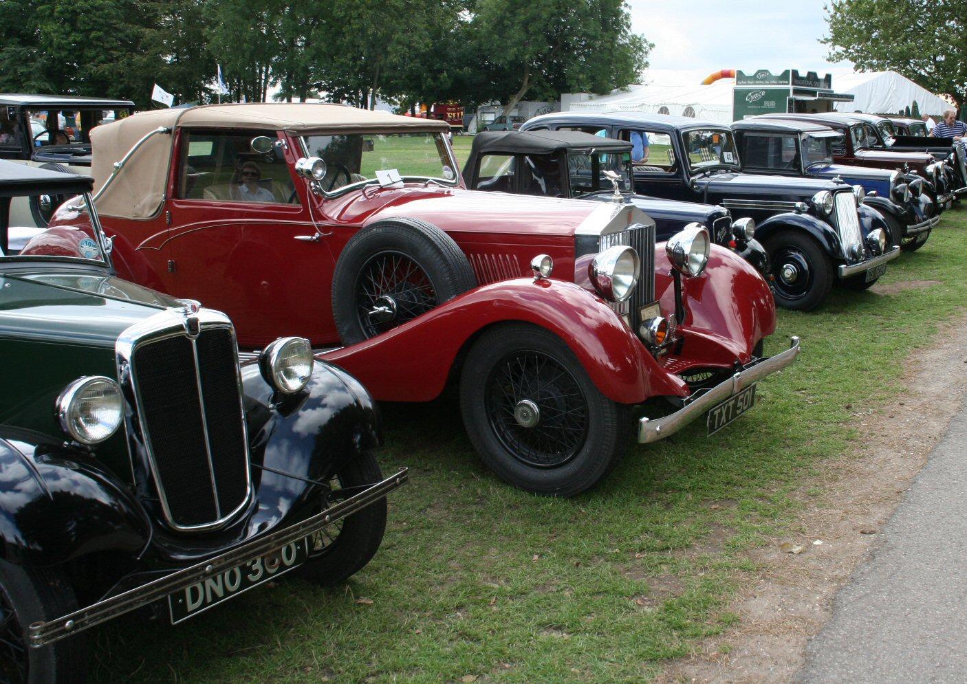 celebrating vintage cars.