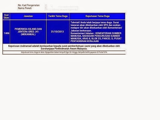 Pemeriksa Kilang Dan Jentera Gred J41 Kejuruteraan Kimia
