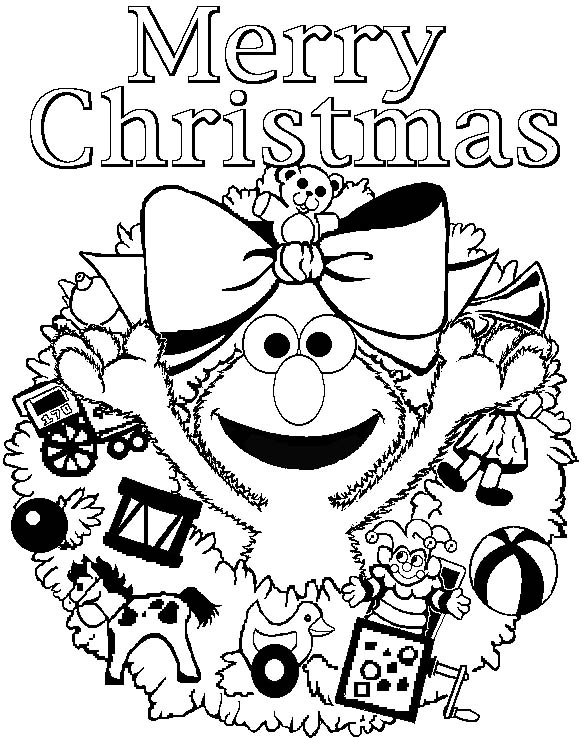 Coloring Pages Merry Christmas title=