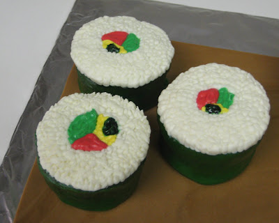 Sushi Cupcakes - Close-Up of Sushi 1