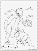 t-rex dinosaur coloring pages