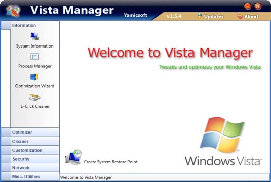 Yamicsoft Vista Manager