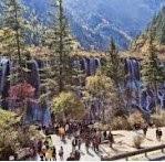 wisata ke juizhaigou cina