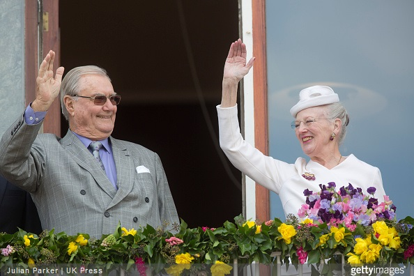 Prince Henrik, and Queen Margrethe II of Denmark, attend a Lunch reception to mark the forthcoming 75th Birthday of Queen Margrethe II of Denmark. at Aarhus City Hall.