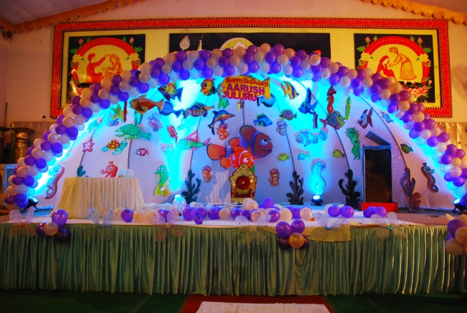Assorted balloon arch decor idea for little kids birthday party