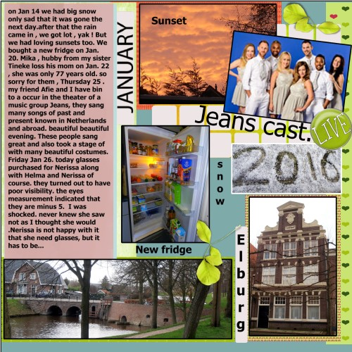 Feb. - Jan. 2016 in review and story