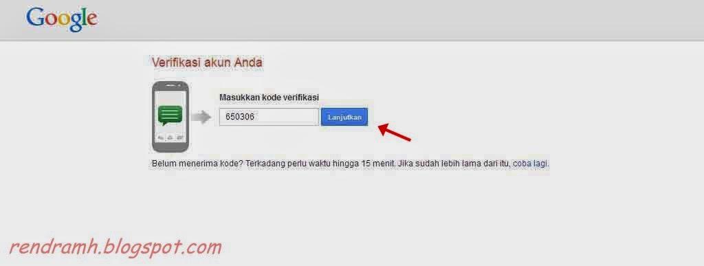 verifikasi akun gmail melalui hp