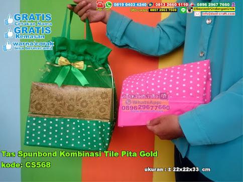Tas Spunbond Kombinasi Tile Pita Gold