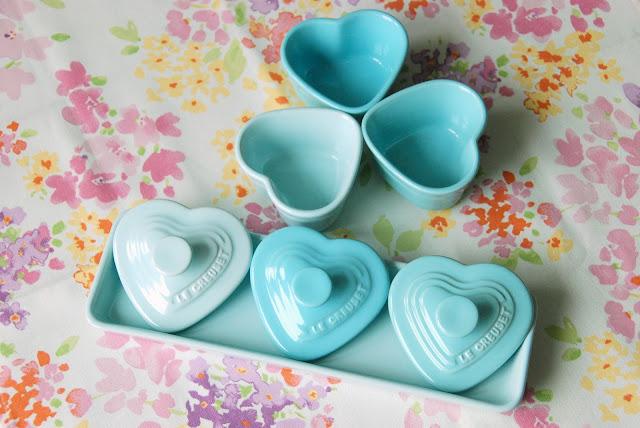 Le Creuset blue heart ramekin