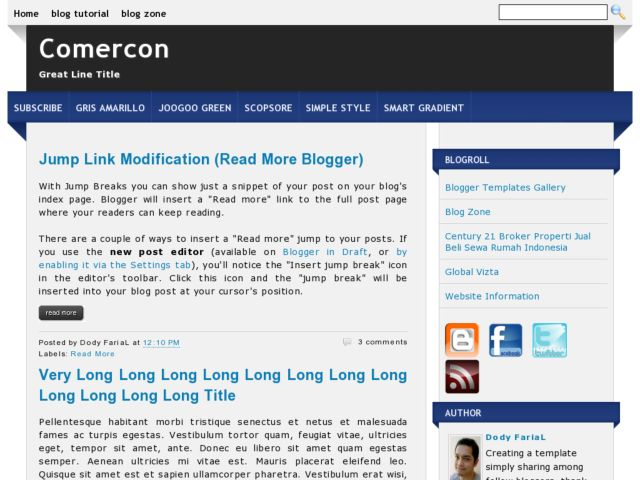 Comercon Blogger Template