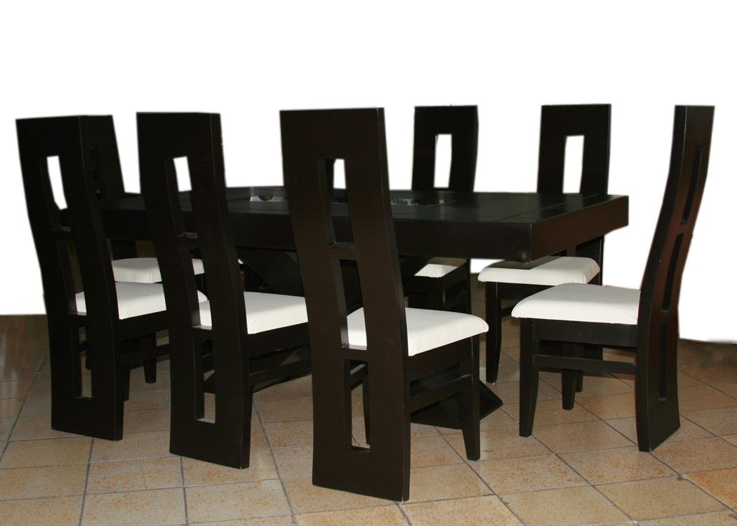 Comedor comedores 6 sillas minimalista decoraci n de for Muebles minimalistas comedores