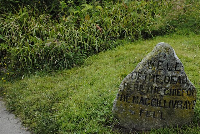 This stone marks the place were Chief Alexander MacGillivray died.
