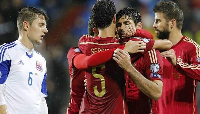 Ver partido España vs Luxemburgo en vivo