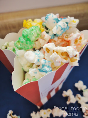 Frugal Foodie Mama: Sweet & Salty Rainbow Popcorn