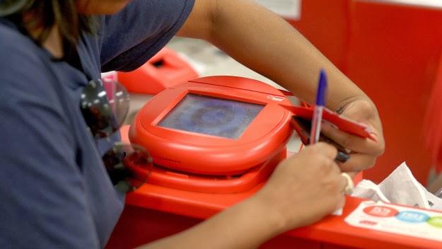 Target card swipe machine