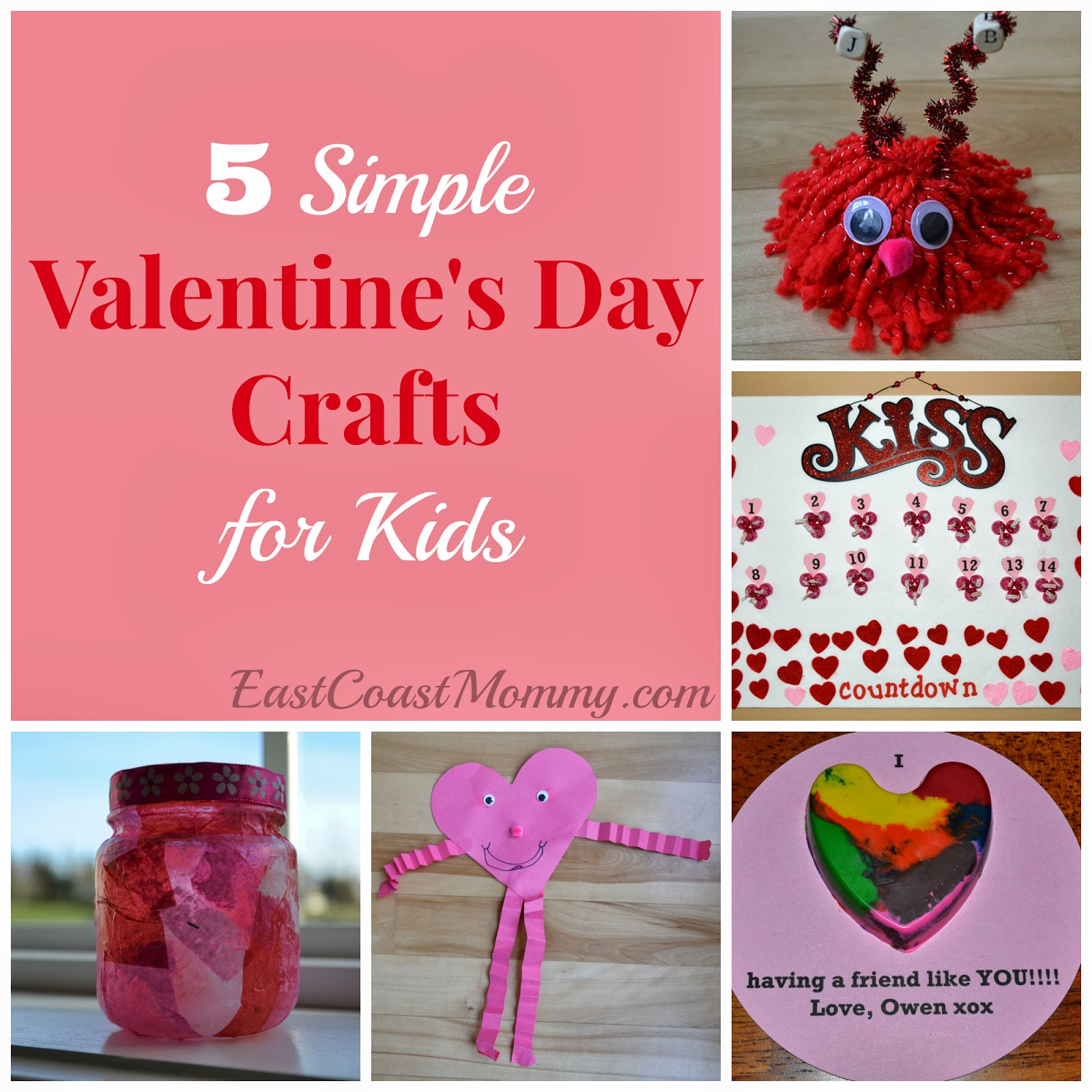 Valentines Day Crafts 2 Part - 18: My Boys Love Valentineu0027s Day, And Over The Years We Have Made Many Adorable Valentineu0027s  Day Crafts. Today, I Am Sharing 5 Of My Favorite Simple Valentineu0027s ...