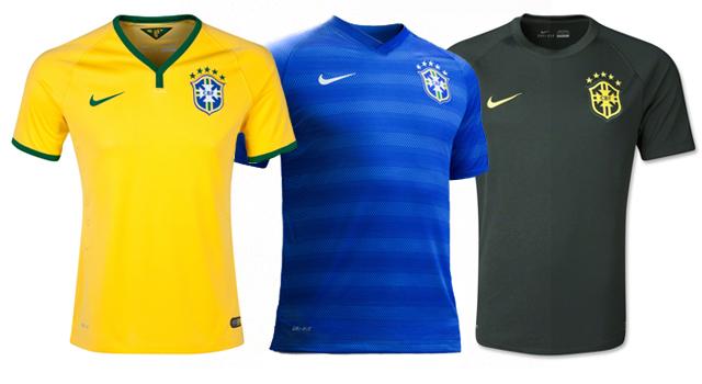 Camisetas selección Brasil Mundial 2014
