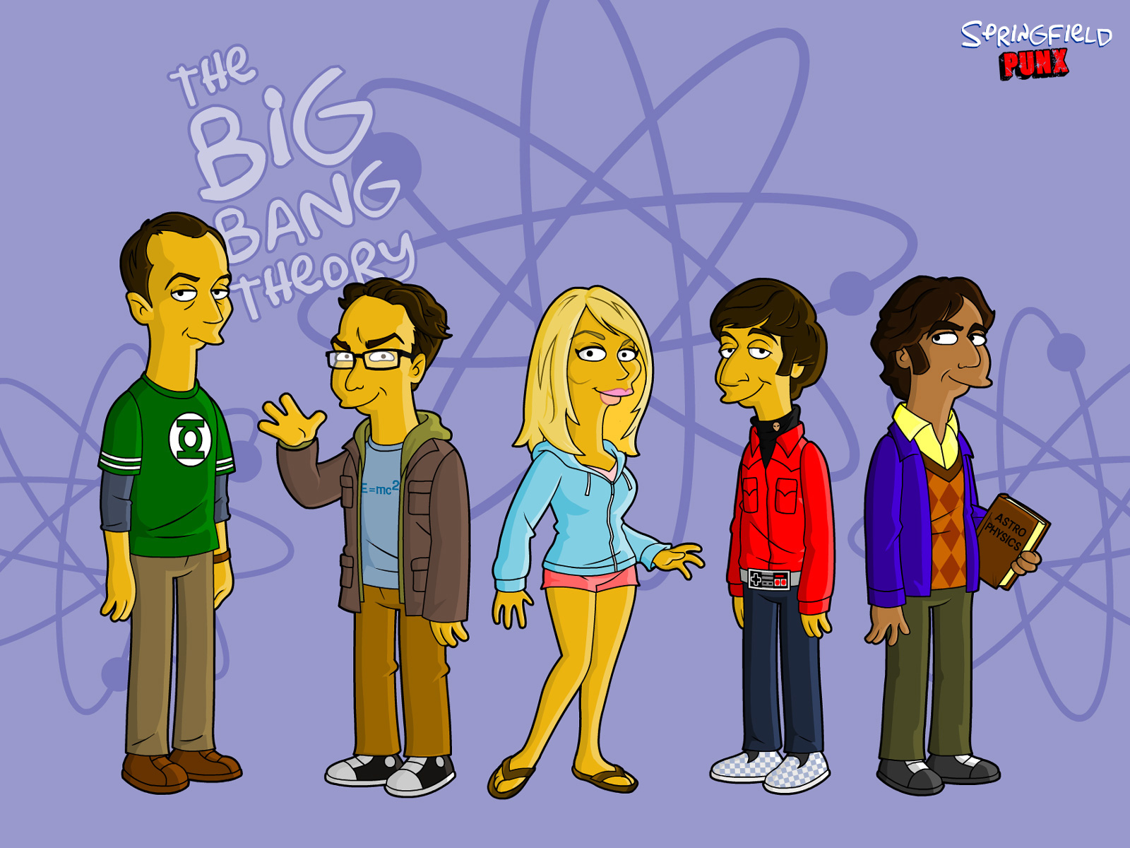 Springfield Punx The Big Bang Theory Wallpaper