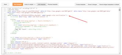 Blogger Sitemap Verification for Google Webmaster tools