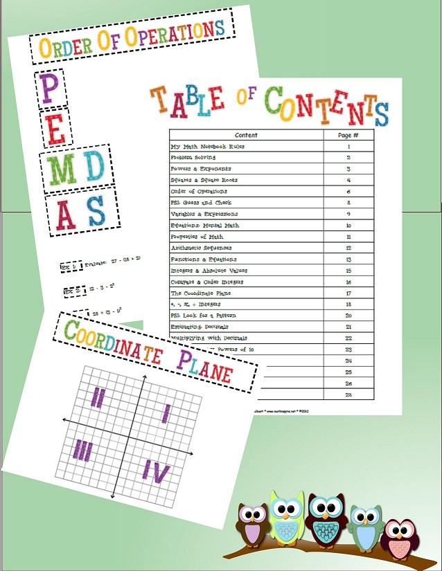 Math-n-spire: Interactive Math Notebook {7th Grade Level}