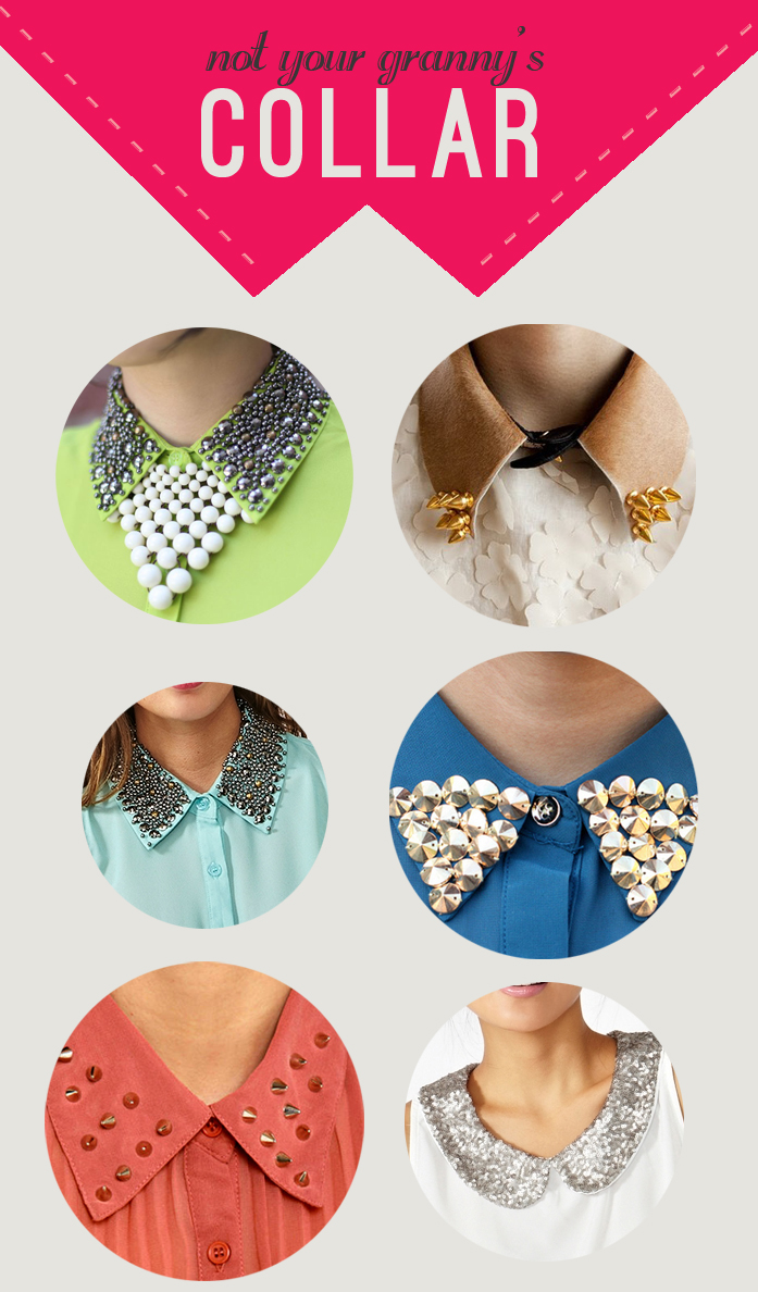 sequined, studded and spikes collars