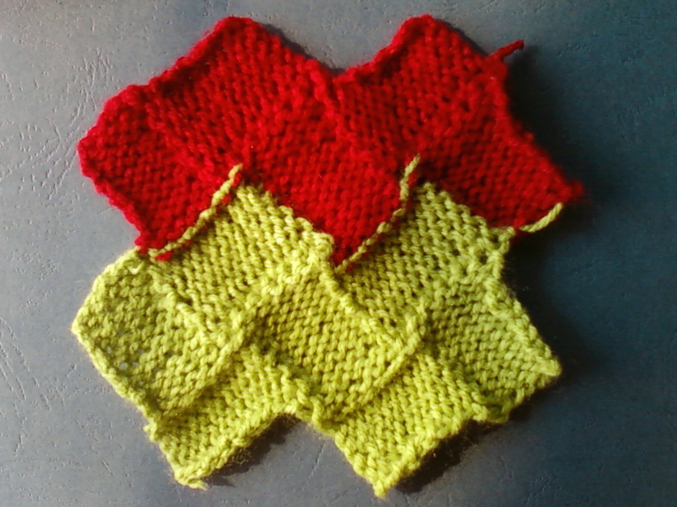 free knit entrelac patterns Zig zag stockinette stitch