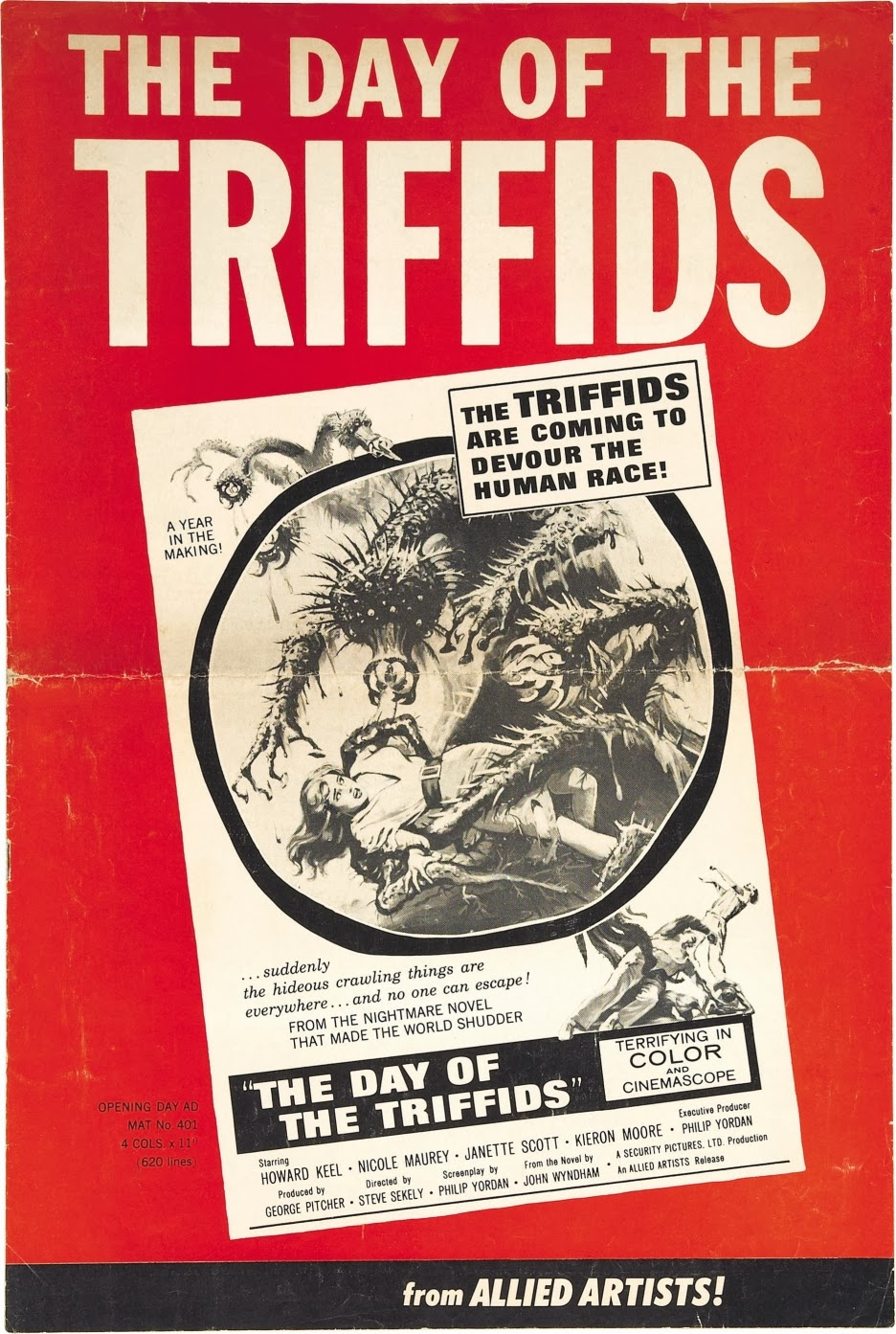 the day of the triffids essay 'brave new world' by aldous huxley and 'the day of the triffids' by john wyndham are both futuristic science fiction novels aldous huxley and john wyndham have very different visions of the future, which have been affected immediately by their experience of life at the time they wrote.