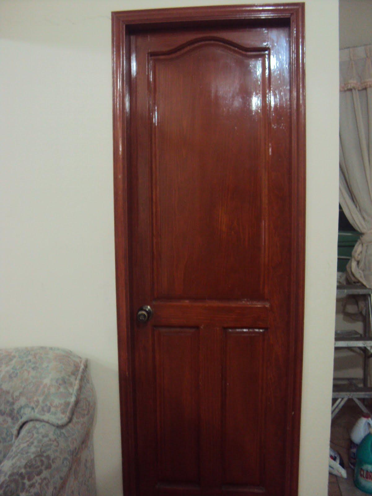 Puerta de madera solida - Puertas de pino ...
