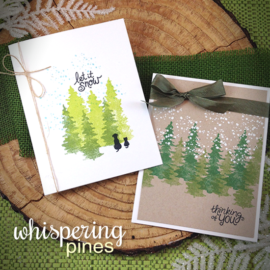 Cards by Jennifer Jackson using Whispering PInes stamp set by Newton's Nook Designs #newtonsnook